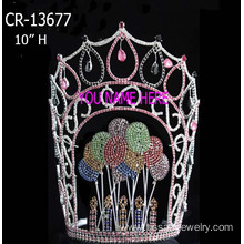 Rhinestone Valentine's Balloon Pageant Crowns